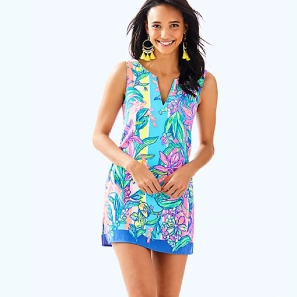 469510a8db9d New Lilly Pulitzer Donna Romper Multi Easy Tiger